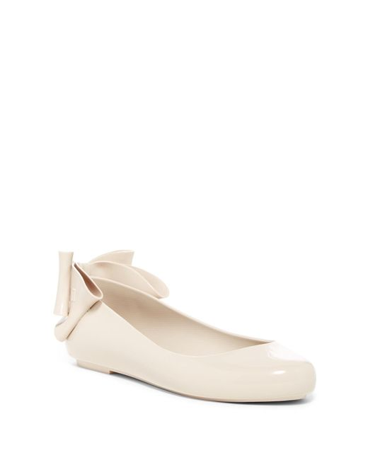Melissa | Natural Space Love Bow Ii Jelly Flat | Lyst