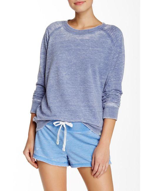 Honeydew Intimates | Blue Crew Neck French Terry Sweatshirt | Lyst