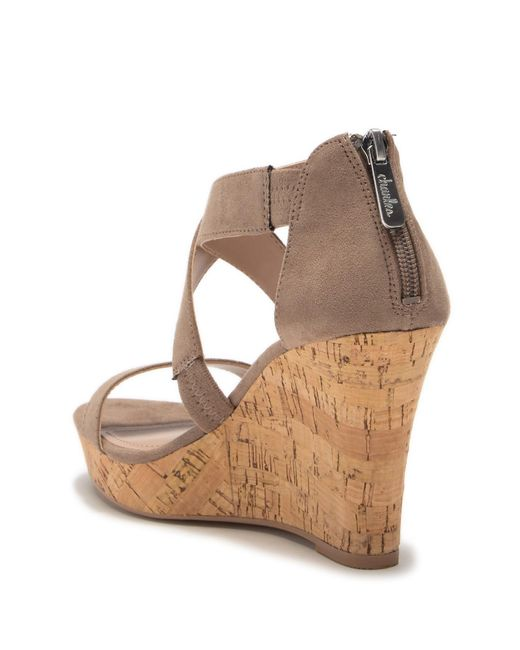 9da9463333f7 ... Charles David - Brown Logical Platform Wedge Sandal - Lyst ...