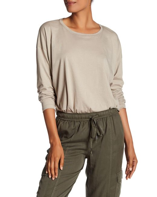 Vince | Natural Relaxed Long Sleeve Tee | Lyst