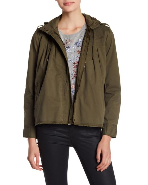 Lucky Brand - Green Raw Edge Military Jacket - Lyst