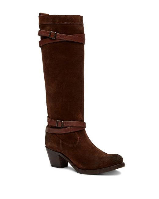 Frye | Brown Jane Strappy Tall Boot | Lyst