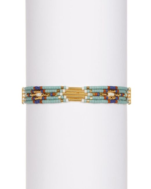 Chan Luu | Metallic 18k Gold Plated Sterling Silver Beaded Slide Bracelet | Lyst