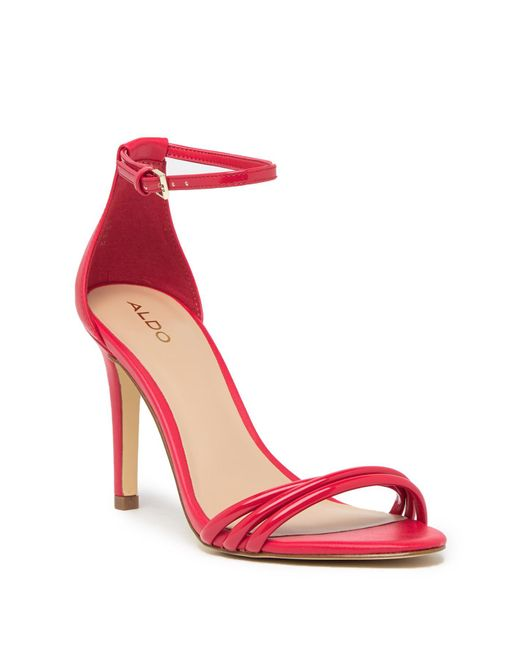 ALDO - Red Fabbrico Heeled Ankle Strap Sandal - Lyst