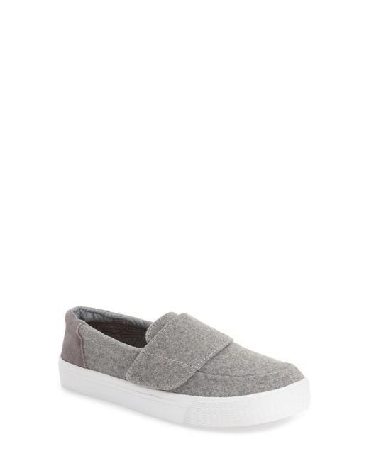 TOMS | Gray 'altair' Felt Suede Slip On | Lyst