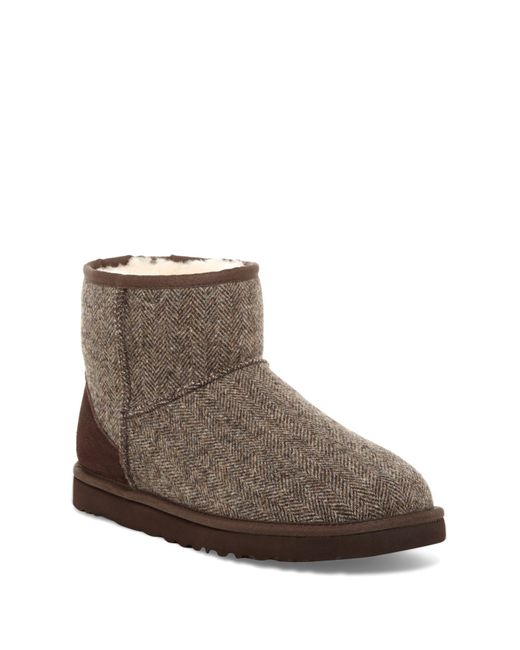 Ugg Classic Mini Tweed Boot in Brown for Men | Lyst