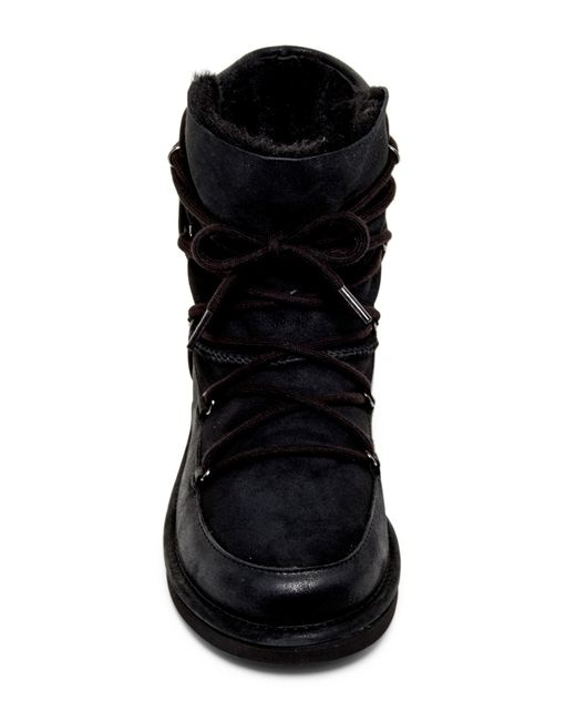 Ugg Genuine Shearling Lined Lodge Boot In Black Lyst