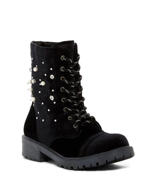 Madden Girl - Black Rex Embellished Boot - Lyst