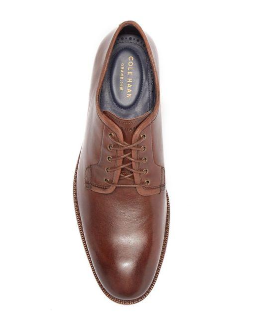 34077d6fd7 ... Cole Haan - Brown Warner Grand Postman Leather Derby for Men - Lyst ...