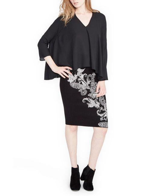 RACHEL Rachel Roy - Black Paisley Printed Skirt - Lyst