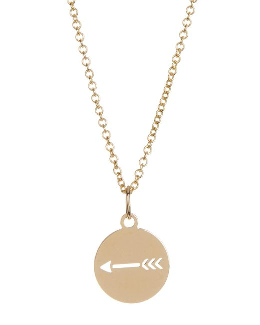 Bony Levy - Metallic 14k Yellow Gold Arrow Cutout Pendant Necklace - Lyst