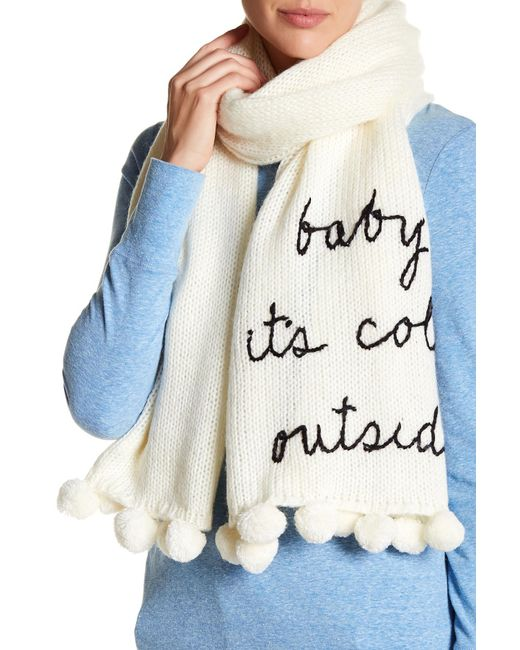 Kate Spade - Black Baby Its Cold Outside Knit Scarf - Lyst
