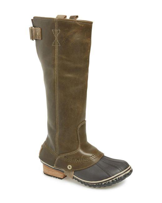 Sorel | Brown 'slimpack' Riding Boot | Lyst