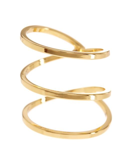 Gorjana | Metallic Zoe Crossover Ring - Size 7 | Lyst