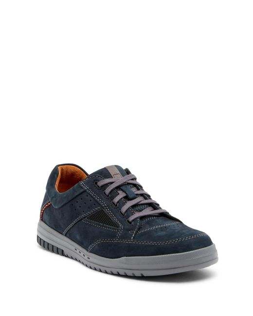 Clarks - Blue Unrhombus Go Leather Sneaker - Wide Width Available for Men - Lyst