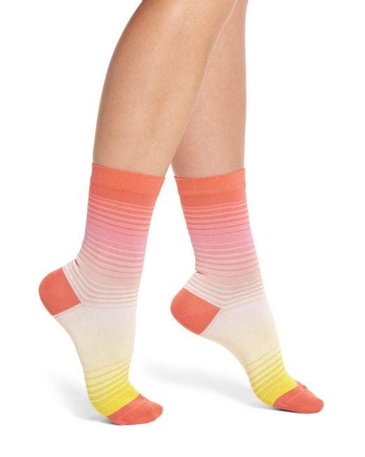 Paul Smith - Pink Emma Gradient Crew Socks - Lyst