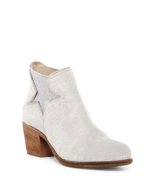 Khrio | Multicolor Snake Embossed Leather Bootie | Lyst