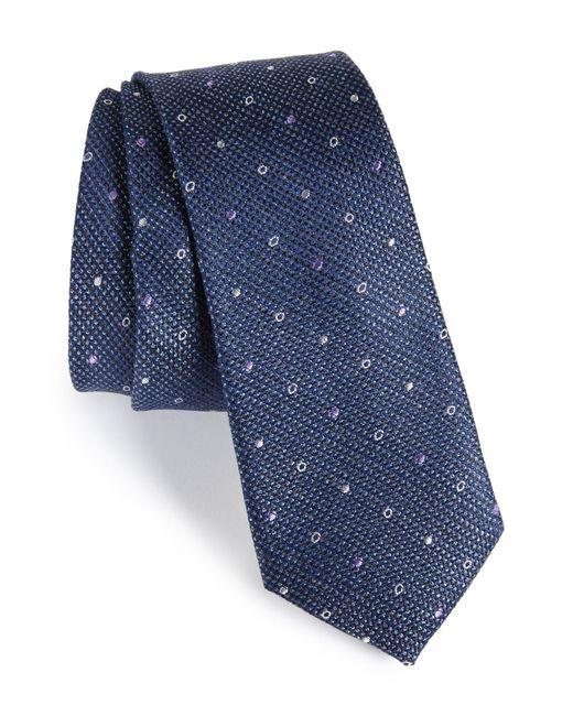 Calibrate - Blue Brubeck Neat Silk Blend Tie for Men - Lyst