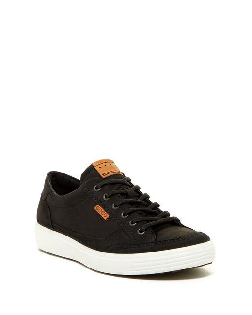 Ecco - Black Soft 7 Leather Sneaker for Men - Lyst