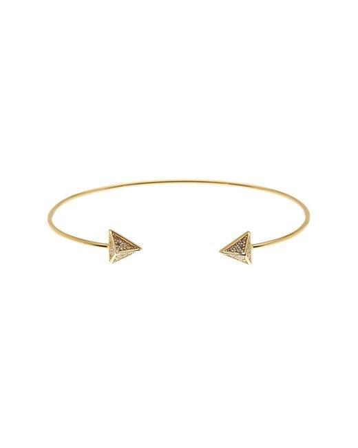Argento Vivo | Metallic 18k Gold Plated Cz Detail Pyramid Cap Cuff | Lyst