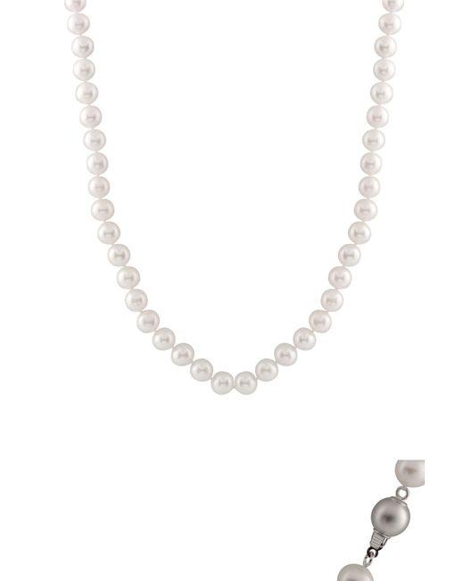 Splendid | 7.5-8mm White Freshwater Pearl Necklace | Lyst
