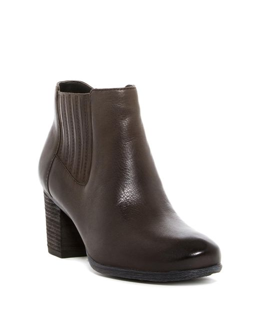 Josef Seibel   Brown Britney Gore Leather Ankle Boot   Lyst