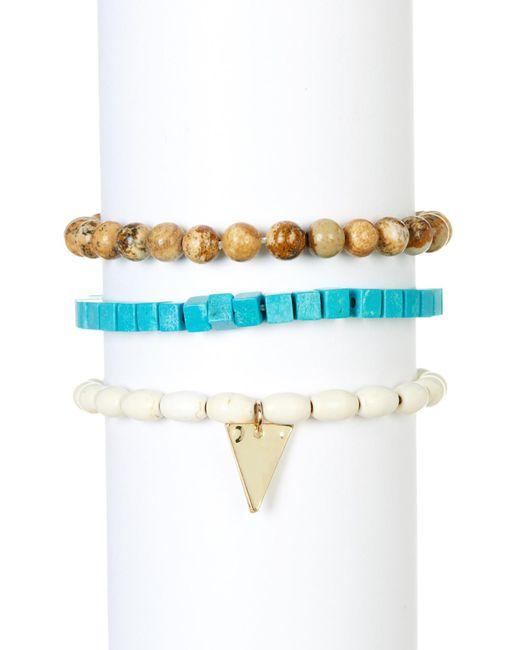 Panacea | Blue Turquoise Tiger Eye Bracelet | Lyst