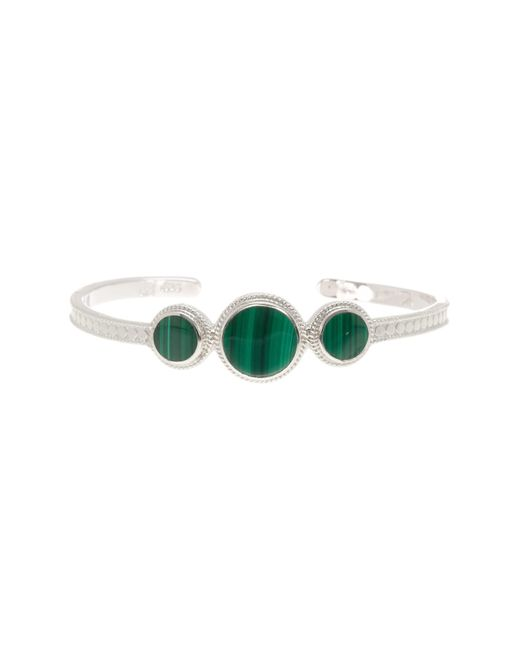 Anna Beck | Metallic Sterling Silver Triple Malachite Stone Cuff | Lyst