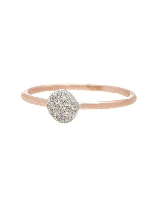 Meira T | Metallic 14k Rose Gold Oval Diamond Pave Ring - Size 8 - 0.11 Ctw | Lyst