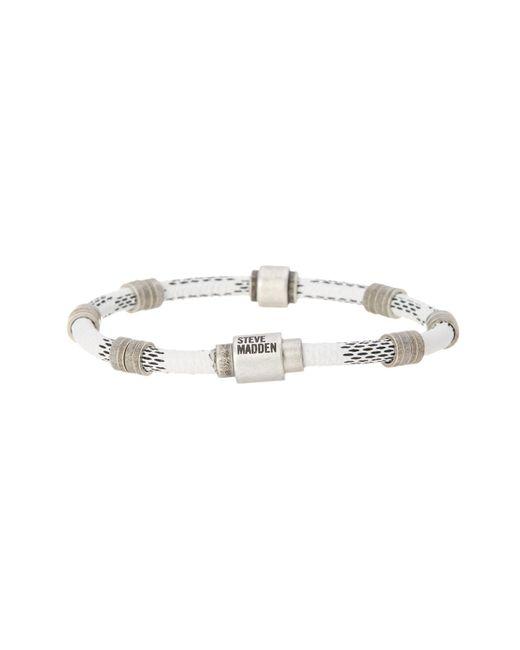 Steve Madden   Metallic Rondelle Braided Bracelet   Lyst