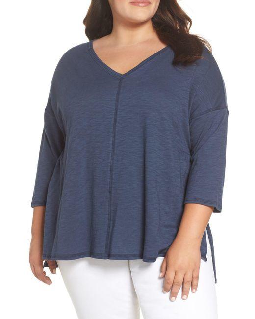 Caslon - Blue (r) Dolman Sleeve Tee (plus Size) - Lyst