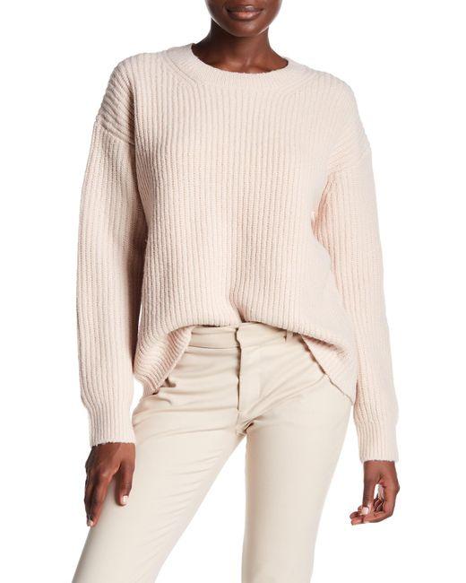Vince - Natural Wool Blend Half Cardigan Crew Sweater - Lyst