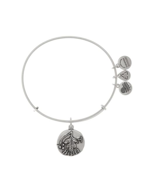 ALEX AND ANI | Metallic Hawthorn Expandable Wire Bangle | Lyst