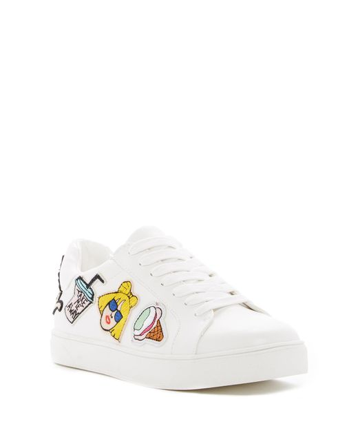 Call It Spring   White Adiang Patched Sneaker   Lyst