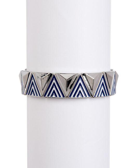 Jessica Simpson   Blue Pattern & Raised Detail Stretch Bracelet   Lyst