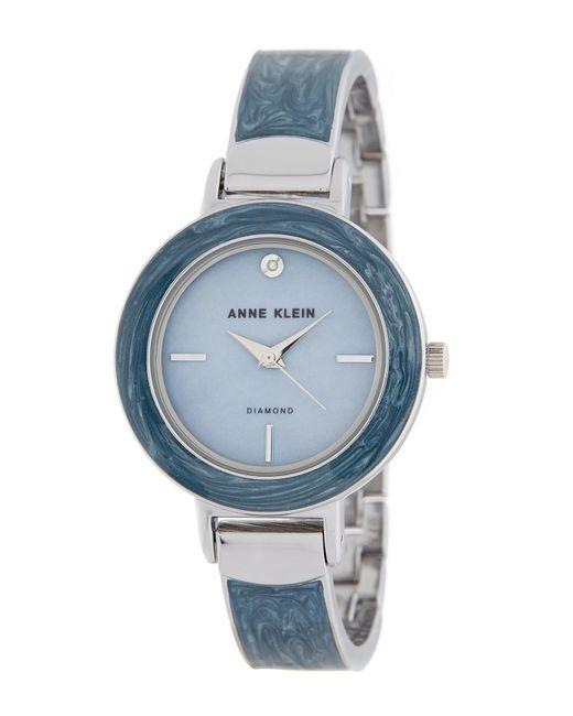 Anne Klein - Metallic Women's Diamond Accent Bangle Watch, 34mm - Lyst