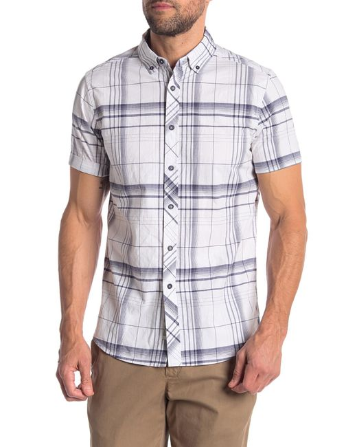 Heritage - White Plaid Slim Fit Shirt for Men - Lyst