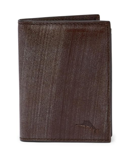 Tommy Bahama - Brown Brush Off Leather L-fold Wallet for Men - Lyst