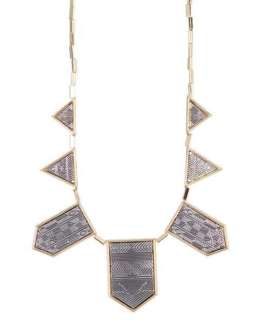 House of Harlow 1960 | Metallic Two-tone Engraved Collar Necklace | Lyst
