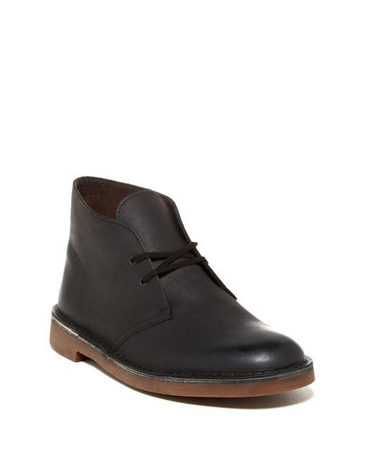 clarks bushacre chukka boot in black for lyst