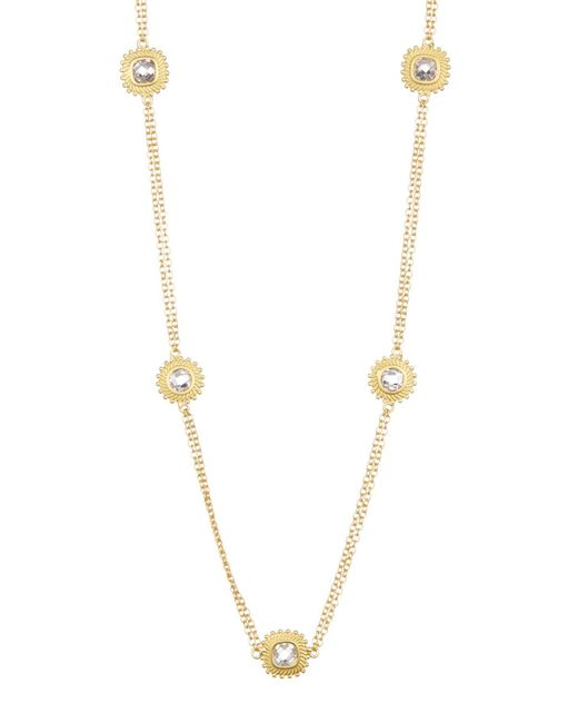 Freida Rothman - Metallic 14k Gold Plated Sterling Silver Sunburst Station Necklace - Lyst