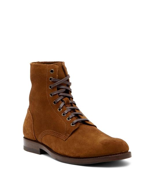Frye | Brown Will Lace-up Suede Boot for Men | Lyst
