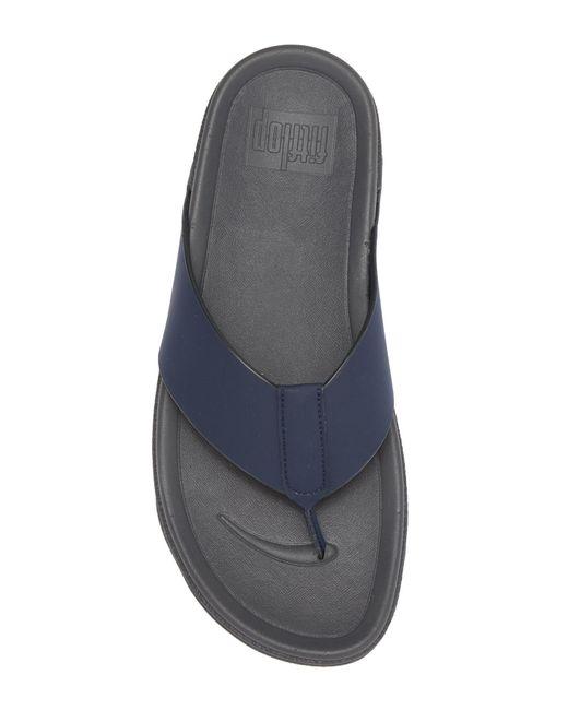 d0c664b3d1a Lyst - Fitflop Surfer Toe Post Flip Flop in Blue for Men - Save 51%