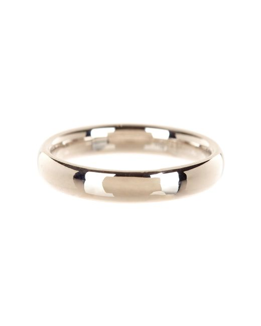 KARAT RUSH - White 14k Gold 4mm Band Ring - Lyst
