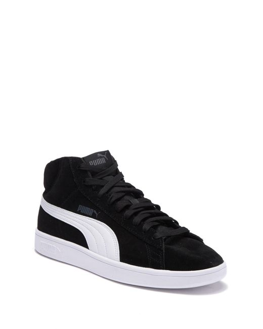 a0374717f3c Lyst - PUMA Smash V2 Mid Sneaker in Black for Men - Save 29%