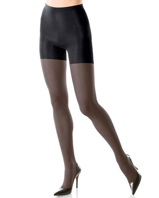 Spanx - Black All The Way Super Control Sheer Pantyhose - Lyst