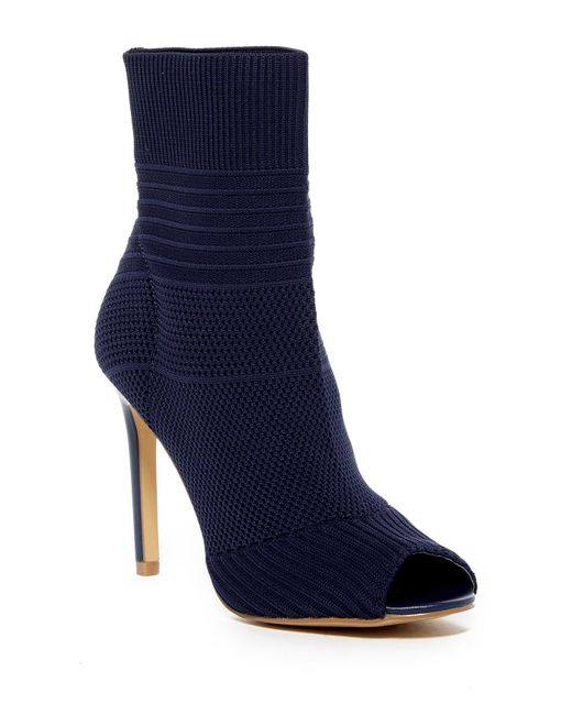 Charles by Charles David | Blue Irene Stretch Knit Bootie | Lyst