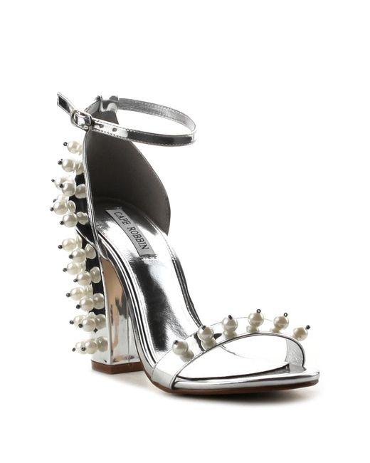 Cape Robbin - Metallic Skylar Ankle Strap Heel - Lyst