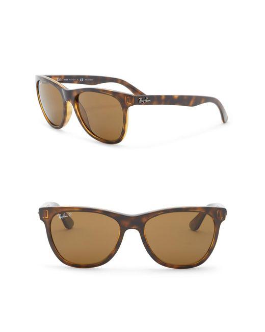 eb57f06dcb Ray-Ban - Brown Wayfarer 54mm Polarized Sunglasses for Men - Lyst ...