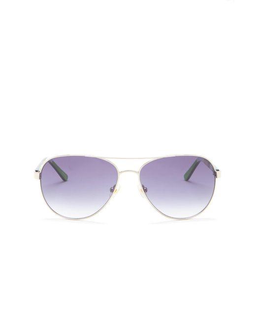 1cf294ecb9e ... Kate Spade - Purple 58mm Blossom Aviator Sunglasses - Lyst ...